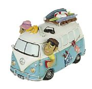 Comical Camper Van Money Box 15cm